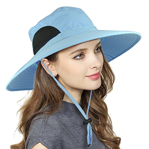 Waterproof Sun Hat For Women, Outdoor UV Protection Wide Brim...