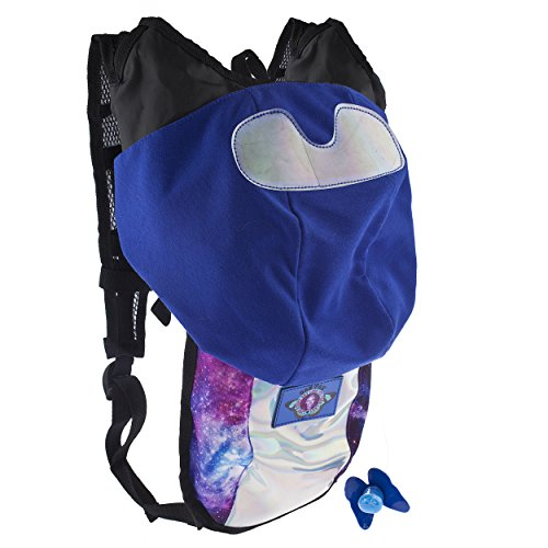 Dan Pak Hydration Pack 2l- Spaceman -Perfect for raves, festivals, hiking, camping, biking, and more!