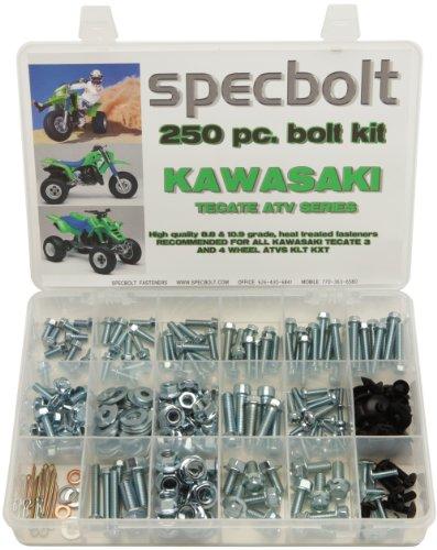 - 250pc Specbolt Kawasaki Tecate ATV Bolt Kit for Maintenance & Restoration OEM Spec Fasteners KXF250 Quad 84-88 TECATE 4 WHEEL & 82-85 TECATE KLT200, KLT250, KXT250, KLT250 3 WHEEL ATVS