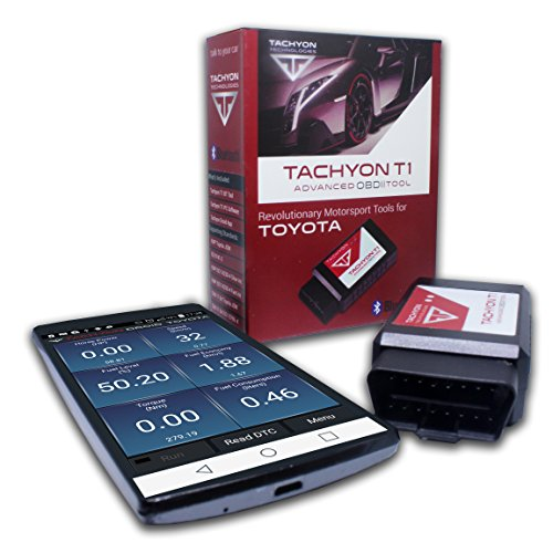 Tachyon OBDII OBD2 Bluetooth Scan Tool | Diagnostic Tool for All Toyota Vehicles (Tool Scan Toyota)