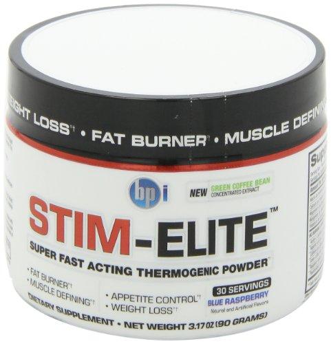 BPI Sports Stim Elite Diet Supplement, Blue Raspberry, 90 Gram