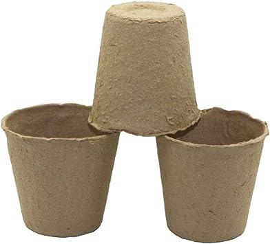 20 piezas redondas pulpa maceta olla turba macetas planta plántula ...