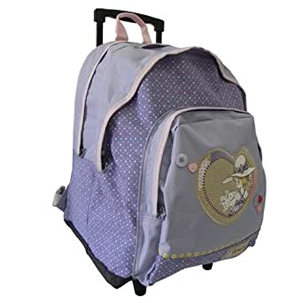 Sarah Kay morado mochila Tamaño grande ruedas