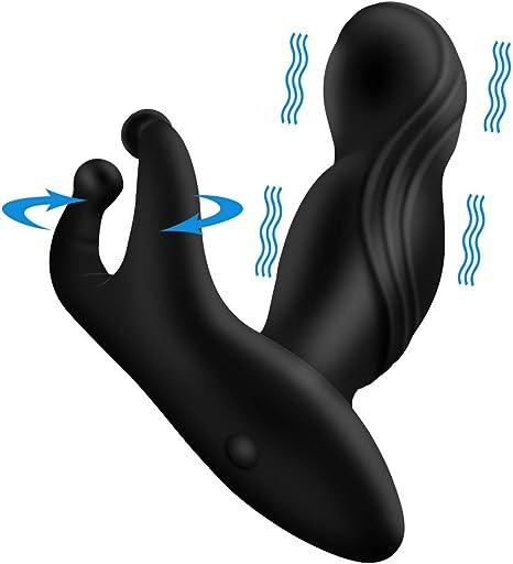 Vibrador Anal Plug Vibrador de próstata Masajeador Butt Plug Enema ...