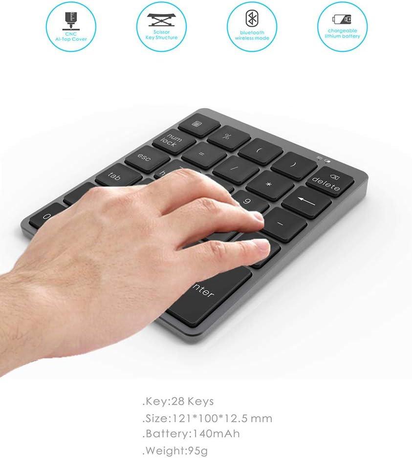 28 Touches pour iMac OUPOD Clavier num/érique Bluetooth Pav/é Num/érique sans Fil Portable Ultra Fin Ordinateurs de Bureau et appareils Bluetooth Noir MacBook