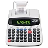 Wholesale CASE of 5 - Victor 10 & 12-digit Thermal Printing Calculator -12/10-Digit Calculator, Thermal Printing, 7-3/4''x10''x2-1/2''