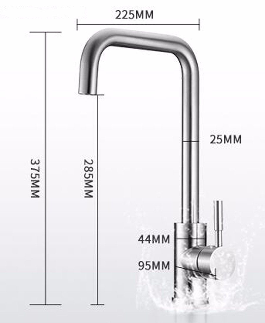 Bijjaladeva Antique Kitchen Sink Mixer Tap Tap Tap Stainless Steel Kitchen Faucet to redate The Dish Washing Basin of Cold Water Faucet Single Handle Single Hole Faucet A 64a39a