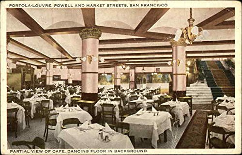 Portola-Louvre, Powell and Market Streets San Francisco, California Original Vintage - Street San Powell Market And Francisco