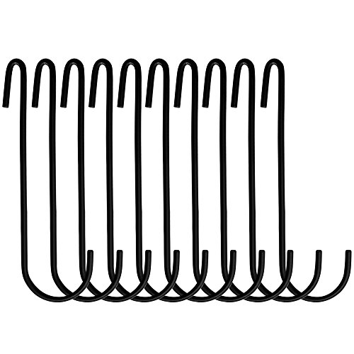 Boshen Pot and Pan Rack Organizer Holder Storage Hanging Hooks for Kitchen Black Grid Wall/Ceiling Mounted 2 Styles Multi Purpose (Black, 20PCS Hooks) by Boshen (Image #2)
