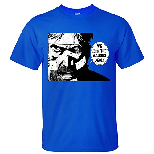 XBANM Men's We Are The Walking Dead Tv Casual Shirts blue L - Marvel Zombies T-shirt