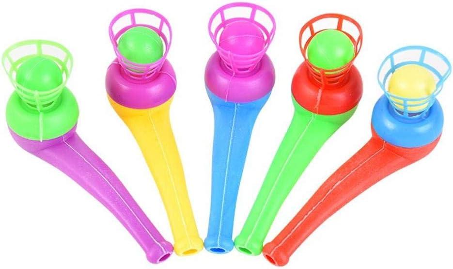 SH-Flying Bola de suspensión, Tubo de plástico de Juguete Juguete para niños Tipo de Tubo Juguete Suspensión Soplador Tubo Soplado Bola de suspensión
