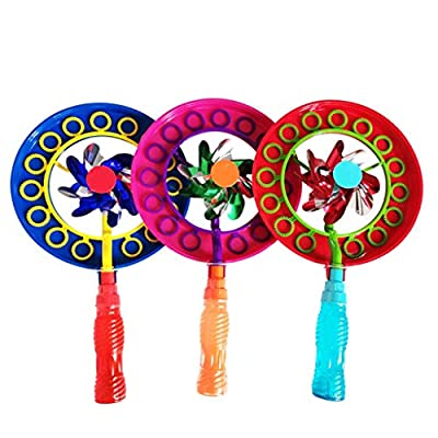 Shotbow Fun Bubble Wand Windmill 2-in-1 Bubble Stick Bubble Blowing Making Wand Maker Stick Colorful Bubble Wands Toys Children's Bubble Supplies for Kids Summer Outdoor Activity Party Favors (Orange): Home Improvement