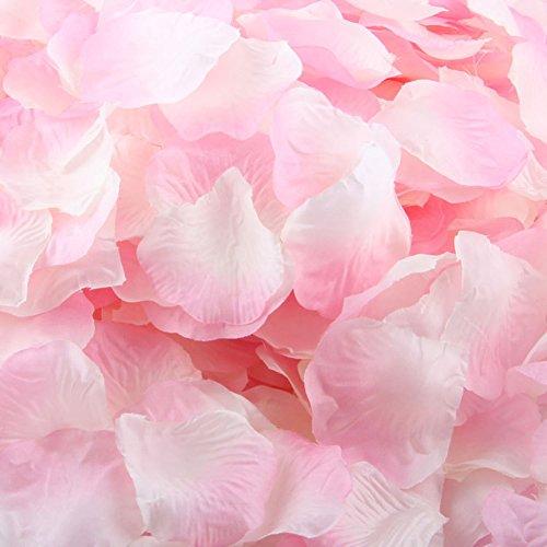 LEFV™ 1000pcs Silk Rose Petals Artificial Flower Wedding Party Vase Decor Bridal Shower Favor Centerpieces Confetti Decorations (40 Colors for Choice)- Light Pink -