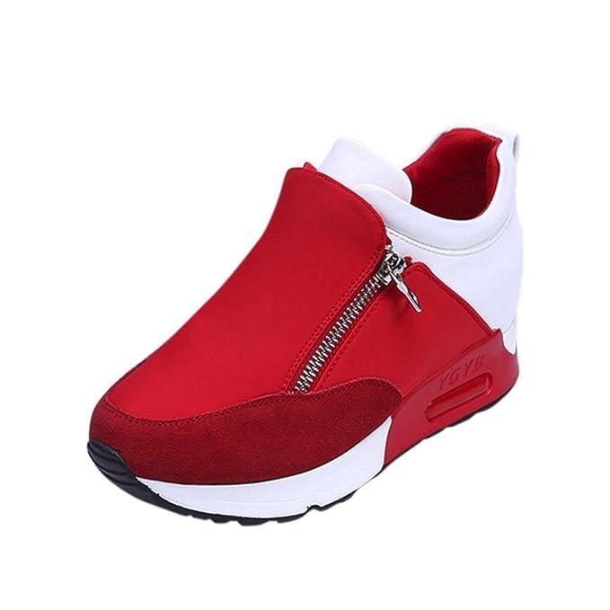 Shoes Mujer Otoño invierno Amlaiworld Moda Calzado mujer otoño invierno Zapatillas de deporte de mujeres Correr con zapatos de plataforma gruesa de ...