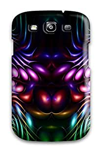 DeirdreAmaya Scratch-free Phone Case For Galaxy S3- Retail Packaging - Fractal Curves