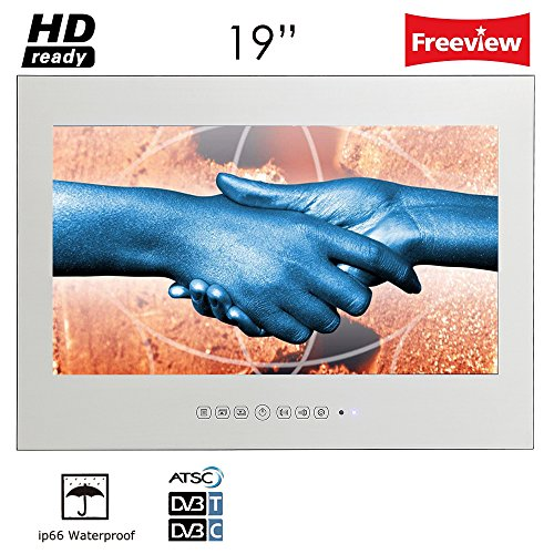 Soulaca 19 inches Mirror IP66 Waterproof Wall Mounted Frameless LED TV M190FS-M