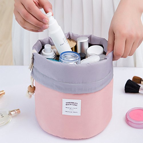 Waterproof Travel Make Up Cosmetic Dresser Organizer Pouch (Pink) - 7