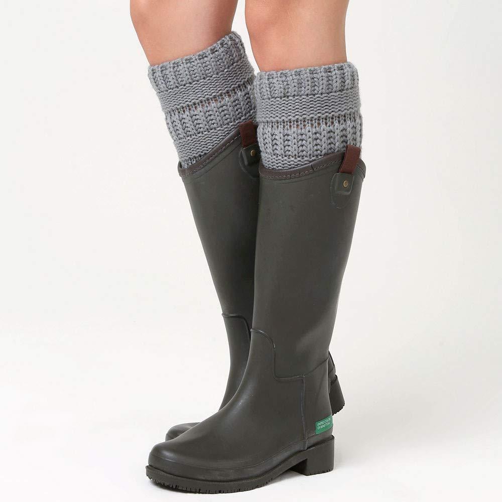 Amazon.com: shusuen Women Winter Cable Knit Leg Warmers Warm Knit Leg Warmers Crochet Leggings Slouch Boot Double Sided Boot Cuffs Socks: Sports & Outdoors