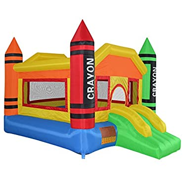 Cloud 9 Mini Crayon Bounce House Inflatable Bouncing Jumper with Blower