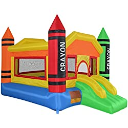 Cloud 9 Mighty Bounce House - Mini Crayon - Inflatable Kids Jumper with Blower