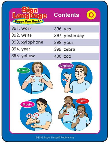 Super Duper Publications 400 American Sign Language (ASL) Flash Cards Fun Deck Educational Learning Resource for Children by Super Duper Publications (Image #6)