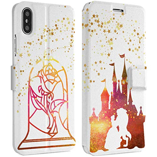 Wonder Wild Beauty and Beast iPhone Wallet Case X/Xs Xs Max Xr 7/8 Plus 6/6s Plus Card Holder Accessories Smart Flip Hard Design Protection Cover Cartoon Characters Walter Disney Magical Spell Art