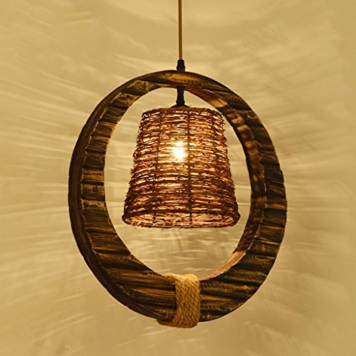 C.K.H. Creative Bamboo Art Living Room Bedroom Lights Restaurant Study Lights American Weaving Rattan Art Pendant Lamps