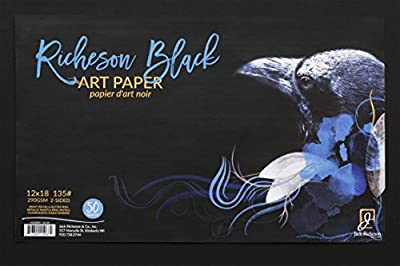 "Jack Richeson Black 135# Art Paper 12"" X 18"" 50 Sh"