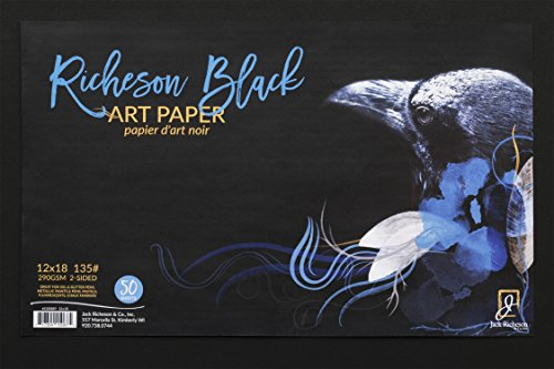 Jack Richeson Black 135# Art Paper 12'' X 18'' 50 Sh by Jack Richeson