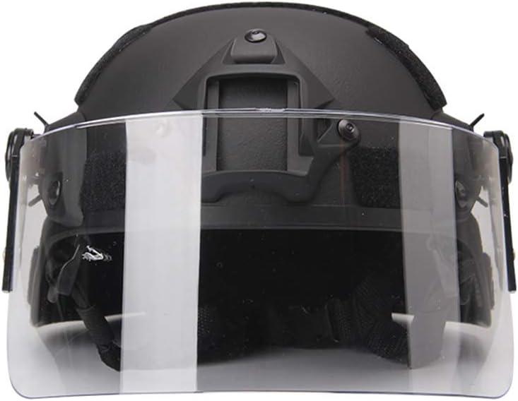 WTZWY Casco táctico Airsoft Paintball, Casco Protector Mich 2000 Army Combat, con Gafas de protección Solar para Deportes al Aire Libre Caza Disparos CS Juego de Guerra