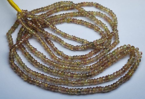 (8 inch Strand, Finest Quality,Natural Songea Sapphire Micro Faceted Rondelles Beads 2.75-3mm aprx)