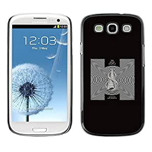 GagaDesign Phone Accessories: Hard Case Cover for Samsung Galaxy S4 - Black & White Abstract