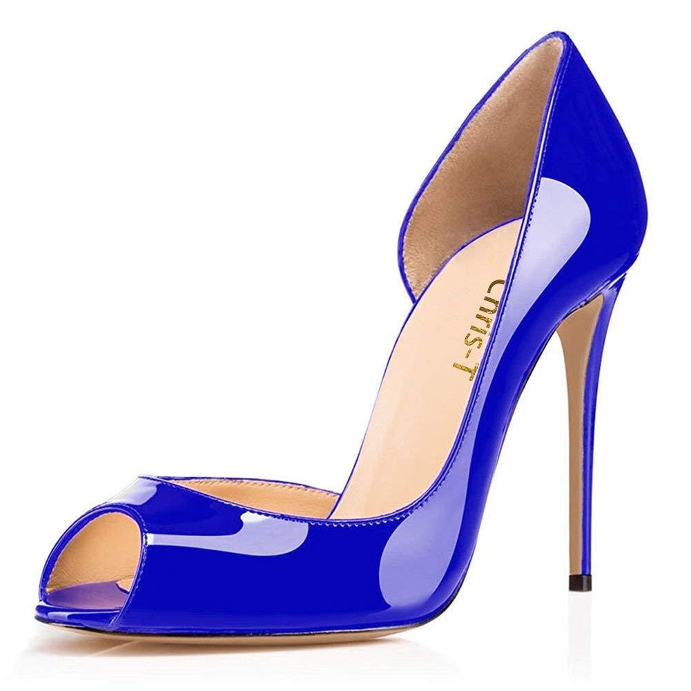 Chris-T Femmes Mode Peep Toe avec des Talons Toe 10285 Hauts avec Stiletto Robe De Pompes Taille 35-45 EU Bleu/ R0uge S0le-peep Toe 2282bd2 - epictionpvp.space