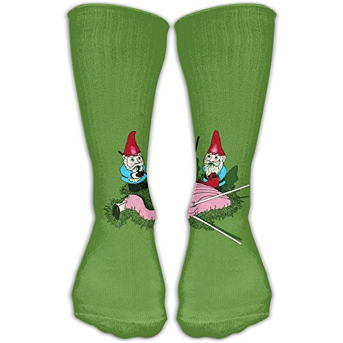 Costume Flamingo Leg One (Garden Gnomes Vs Flamingo Cotton Socks Knee High Long Socks For Travel Running Sports)