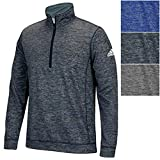 adidas Mens Climawarm Team Issue 1/4 Zip Long Sleeve, Dark Grey Heathered, X-Large