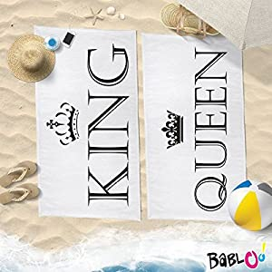Babloo Coppia di Teli Mare Love You And Me King And Queen -80x160- 1 spesavip