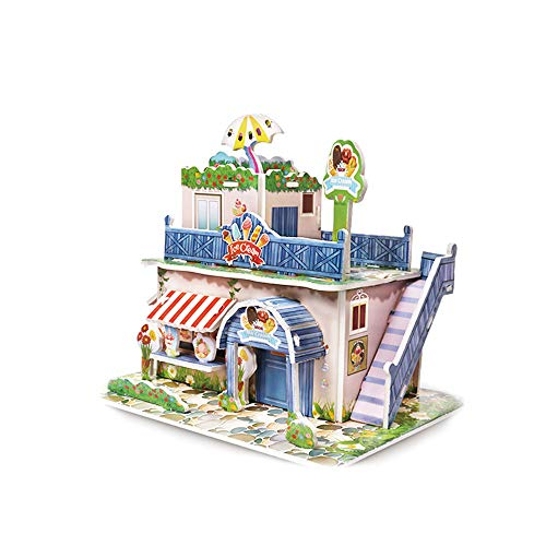 (WFFO Paper Board Jigsaw Puzzle, Early Learning Construction Assemble Children Home Decoration (C))