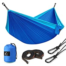 Terra Hiker Camping Hammock, Straps & Carabiners Included, Lightweight Portable Double Hammock for Backpacking, Travel, Beach, Yard