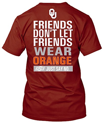 Sooners Ou - New World Graphics NCAA Friends Don't Let Friends Wear T Shirts - Up to 2X and 3X (Oklahoma Sooners, X-Large)
