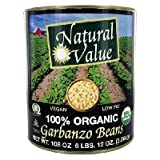 Natural Value Garbanzo Beans, 108 Ounce -- 6 per case.