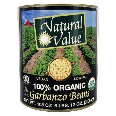 Natural Value Garbanzo Beans, 108 Ounce -- 6 per case. by Natural Value