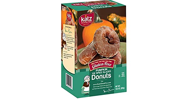 Katz Donut Gluten Free Glzed Pumpkin, 10.5 oz: Amazon.com ...