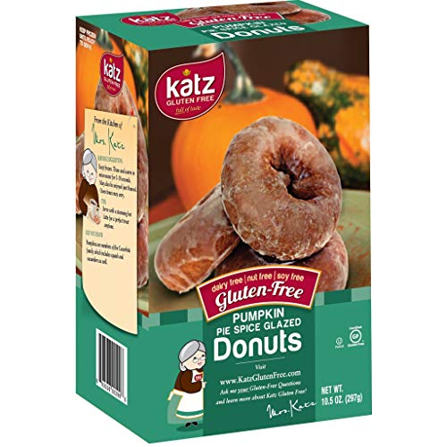 Katz Gluten Free Pumpkin Spice Glazed Donuts | Dairy, Nut, Soy and Gluten Free | Kosher (1 Pack of 6 Donuts, 10.5 Ounce) ()