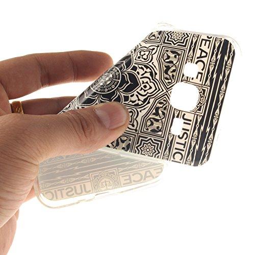 De Résistant Mandala Arrière Hozor Souple Motif Téléphone En TPU Samsung Slim Galaxy Cas Transparent De 2016 Silicone Couverture Scratch J310 Antichoc Bord Protection J3 Cas Fit Peint OwBUqFwC