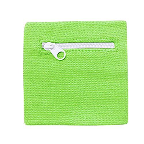 WELCOMEUNI Wrist Wallet Pouch Band Cycling Safe Sport Bag Zipper Pocket Towel Sweat-Absorbent Warm Sports Wristband