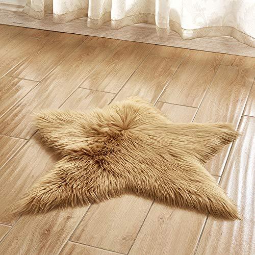 Christmas Best Decoration!!!Kacowpper Pentagram Floor mat Non Slip Rug Mats Hairy Soft Fluffy Faux Fur Carpet Mat Home