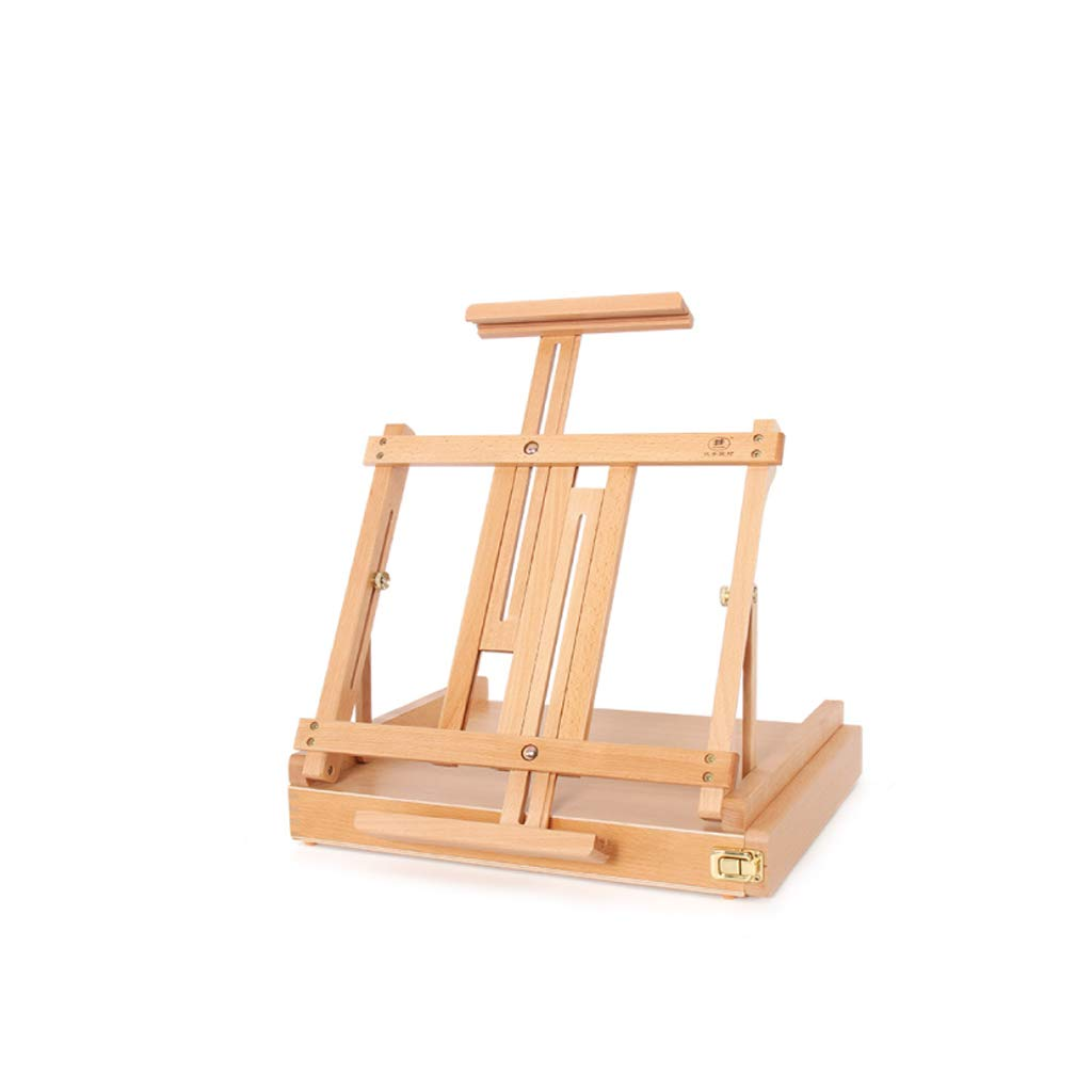 Djyyh 学生のための多機能折りたたみ木製イーゼルは、水彩ペンを格納することができますポータブルイーゼル   B07RS5H9SD