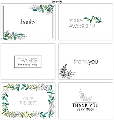 Amazon minimalist floral thank you cards 36 bulk thank you minimalist floral thank you cards 36 bulk thank you note cards blank cards inside included envelopes birthdays baby showers and business 6 reheart