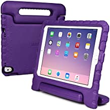 iPad Pro 9.7 / iPad Air 2 kids case, COOPER DYNAMO Rugged Heavy Duty Children's Boys Girls Drop Proof Protective Carry Case Cover Handle, Stand & Protector for Apple iPad Pro 9.7 inch Purple