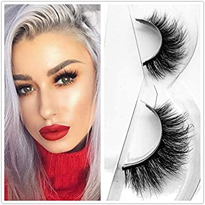 Miss Kiss Mink 3D Lashes Cross Makeup Strip Lashes 100% Siberian Fur Fake Eyelashes Hand-made False Eyelash 1 Pair Package